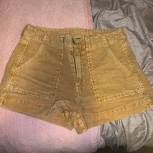 American Eagle Mustard Corduroy Shorts